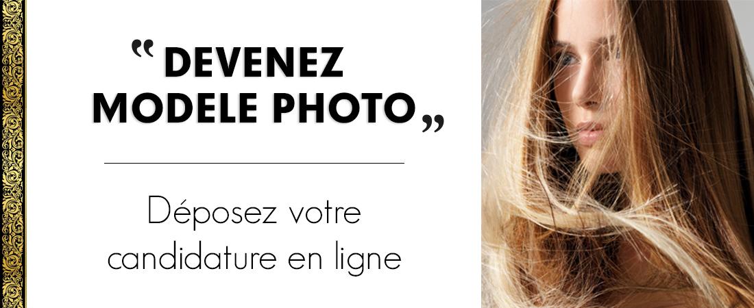 Déposez votre candidature en ligne pour devenir modèle photo